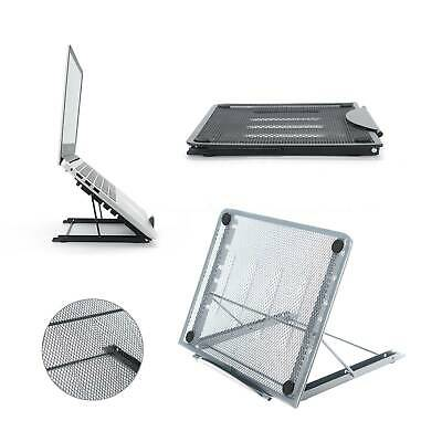 Adjustable Laptop Stand Folding Portable Mesh Tablet Holder Tray Office Support • 7.49£
