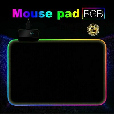 RGB Colorful LED Lighting Gaming Mouse Pad Mat 350*250mm For PC Laptop UK • 8.89£