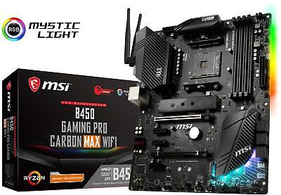 MSI B450 GAMING PRO CARBON MAX WIFI Motherboard AMD Socket AM4 AMD B450 Chipset • 119.99£