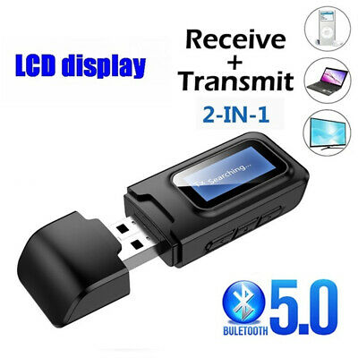 USB Bluetooth 5.0 Audio Transmitter Receiver 3.5MM AUX RCA Stereo Adapter • 6.58£