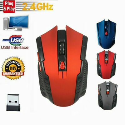 2.4GHz Wireless Cordless Mouse Mice Optical Scroll For PC Laptop Computer + USB • 3.70£