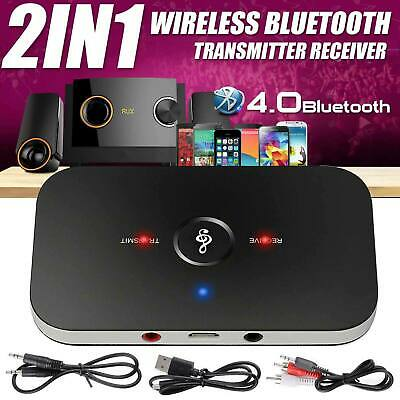Bluetooth Audio Transmitter Adapter 2 In1 Wireless Stereo Sender TV Speaker UK • 6.59£