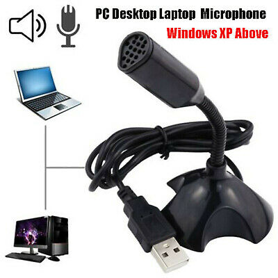 Universal USB Stand Mini Desktop Microphone Mic For PC Desktop Laptop MacBook UK • 5.99£