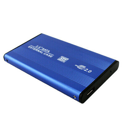 Portable 2.5Inch USB 2.0 SATA External Mobile Hard Disk Box Aluminum Alloy Shell • 3.95£