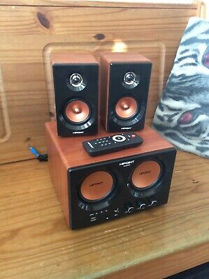 (USED) HiPoint 2.2 Channel Stereo Speakers With Subwoofer, Bluetooth, USB • 18£