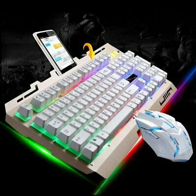 Pro RGB Gaming Keyboard And Mouse Set LED Wired USB For PC PS4 Xbox One And 360 • 18.99£