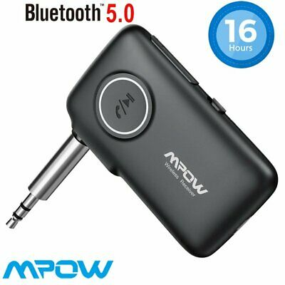 MPOW 3.5mm CSR Bluetooth Wireless Audio Receiver Car AUX Stereo Music Adapter • 13.29£