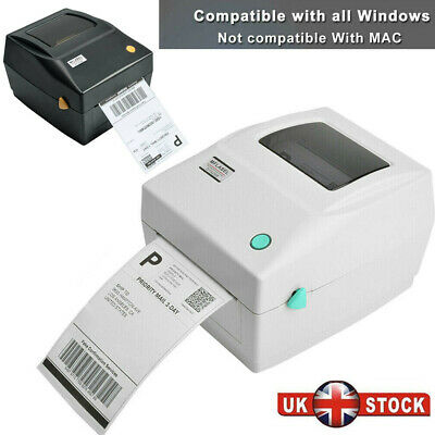 150x100mm 4x6 Direct Thermal Printer Shipping Label Maker USB Barcode Printer UK • 85.94£