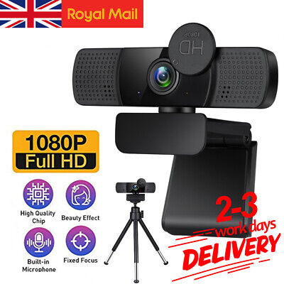 1080P Full HD Webcam Web Camera USB With Microphone Conference Laptop Desktop PC • 18.99£