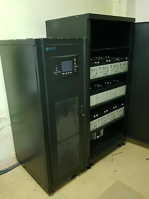 METARTEC DECI 40kVA COMPLETE UPS SYSTEM WITH SEPARATE 36 X BATTERY BANK & BYPASS • 1,050£