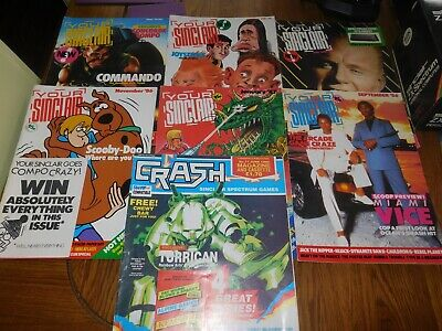 8 X SINCLAIR ZX SPECTRUM MAGAZINES Inc YOUR SINCLAIR ISSUES 1 & 2 • 9.99£