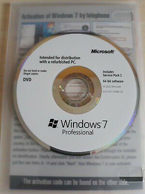 Microsoft Windows 7 Professional 64-bit With Service Pack 1 For Windows... • 8.50£