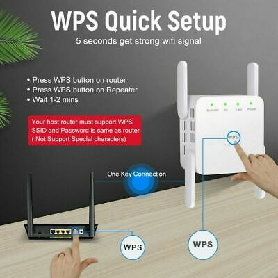 1200Mbps Dual-Band Wifi Extender Repeater Wireless Router Range Signal Booster • 19.49£