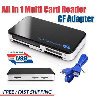 Card Reader Viewer USB 3.0 All In One Multi Memory CF Micro SD HC SDXC TFLASH TF • 9.57£