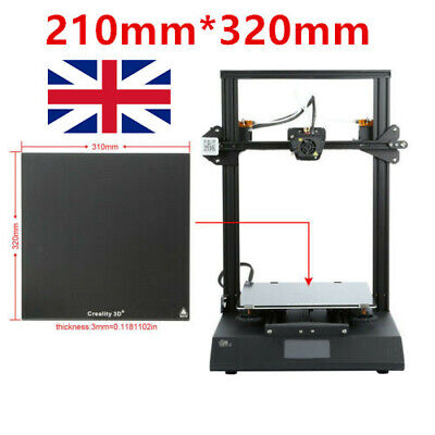 310*320mm Tempered Glass Build Plate For Creality CR-10s Pro/CR-X/CR-10V2  UK • 28.98£
