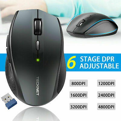 Silent Wireless Mouse Bluetooth 2.4GHz USB Cordless Optical Mice For PC Laptop • 7.99£