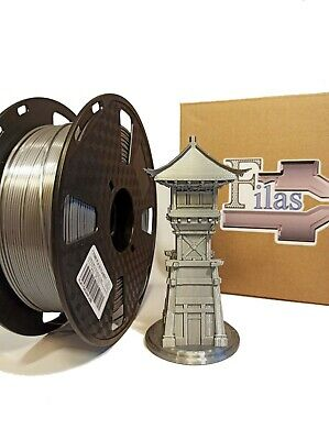 Filas_3d PLA Silk Filament 1.75mm, 1 Kg Silk Silver • 18£