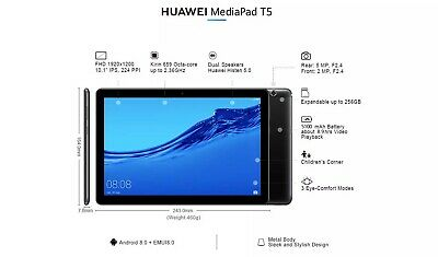 Huawei Mediapad T5 10  LTE /4G Black (25,4 Cm)Android,Connectivity Cellular • 70£
