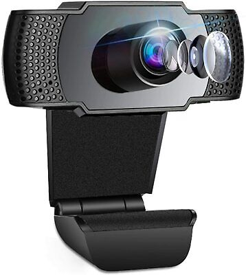 Webcam Video Camera With Microphone Full HD 1080P USB For PC Desktop Laptop UK • 11.99£