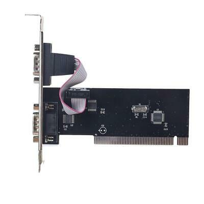 1 X Dual Two 2 Rs232 9 Pin Ports Serial Pci Expansion Card For Windows Xp 7 • 5.53£