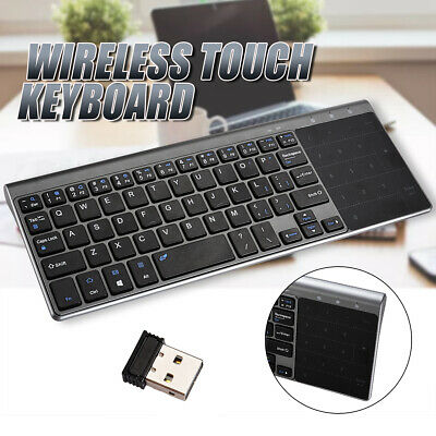 2.4GHZ Slim Wireless Touch Keyboard With Touchpads For PC Laptop Android UK Se • 16.89£