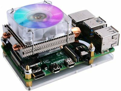 GeeekPi Raspberry Pi Low-profile CPU Cooler, Raspberry Pi Horizontal ICE Tower • 23.99£