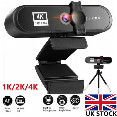 1K/2K/4K Auto Focus Full HD Webcam PC Computer Camera For PC Video Conference UK • 39.10£