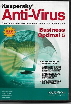 Kaspersky Anti Virus Business Optimal 5, Software CD Rom, New Condition. • 4.99£