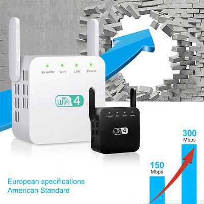 Wifi Signal Range Booster Repeater Wireless Router Network Extender 300Mbps UK • 10.99£