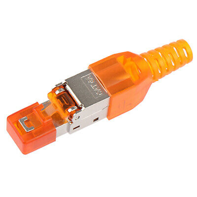 Cat6A Rj45 Connector Ethernet Adapter Tool-Free Crimping Shielded Crystal H ` • 0.01£