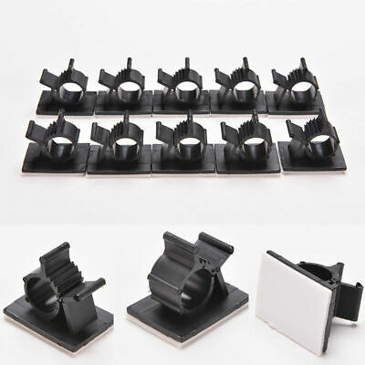 30x Cable Clips Adhesive Cord Management Clamp Fastener Wire Holder Organizer Iu • 5.55£