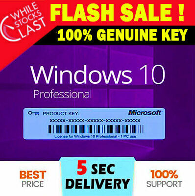 🔥✅Win 10 Pro Professional License Key 32/64bit 🔥✅INSTANT DELIVERY • 3.19£