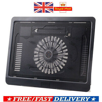 Laptop Cooler Cooling Pad Base Big Fan USB Stand For 12 - 14  LED Notebook UK • 8.88£
