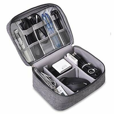 Large Cable/Travel Electronics Accessories Bag 2 Zipped Sections Large Capacity  • 13.99£