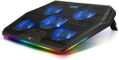 TECKNET RGB Gaming Cooling Pad Quiet Laptop And Notebook Cooling Pad With 5 And • 28.79£