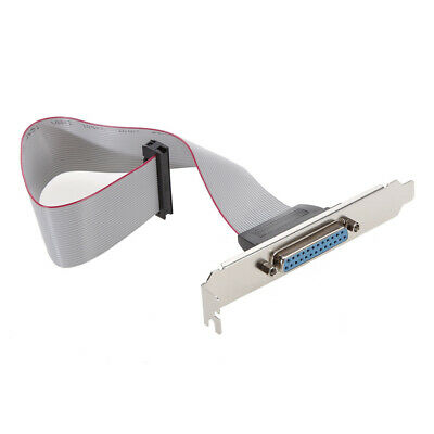 Motherboard DB25 1 Port Serial Parallel PCI Slot Header Cable Bracket  • 4.66£