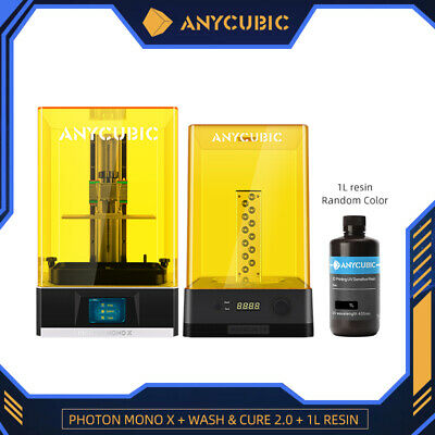 ANYCUBIC Photon Mono X LCD 3D Printer 192x120x245mm With Wash&Cure 2.0+1L Resin • 769£