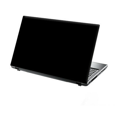 TaylorHe 15.6  Laptop Vinyl Skin Sticker Decal Cover Pure Black Simple • 8.95£