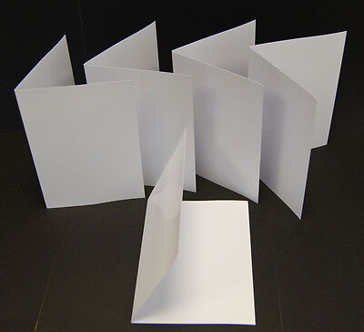 50 Blank Greeting Cards Inkjet Printable 240gsm Photo Gloss A5 Folding To A6 • 7.99£