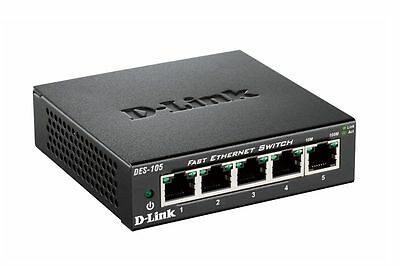 D-Link 5-Port Fast Ethernet Wired Networking Switch 10/100 DES-105/E EU Plug  • 14.99£