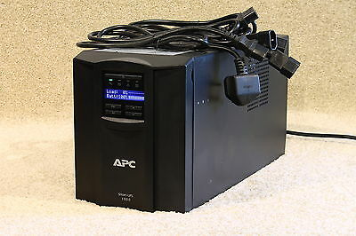 APC SMT1000i Tower (Black) With LCD Screen --brand New Batteries-- 12m RTB Wty. • 115£