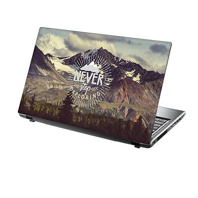 15.6  TaylorHe Laptop Vinyl Skin Sticker Decal Protection Cover Adventure 2128 • 8.95£