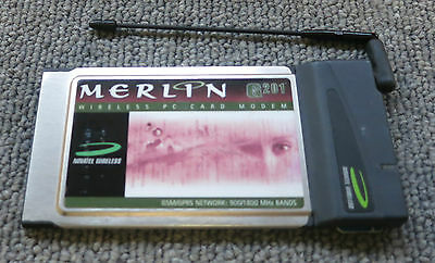 Novatel Wireless Merlin G201 PC Card Modem GSM / GPRS Network 900/1800 MHz Bands • 12£