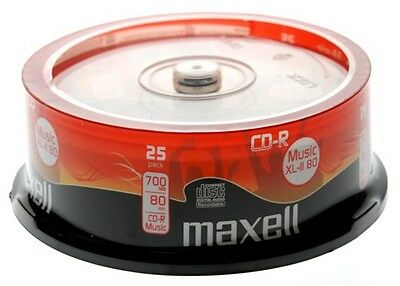 MAXELL CD-R Audio Blank CDR XL-II 80 25 Pack *Free P&P* Audio Music CD's  • 8.99£