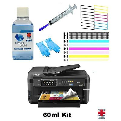 Epson Nozzle Unblocker 60ml Print Head Cleaner WF-3620 WF-3540 WF-2660 WF-2630 • 5.98£