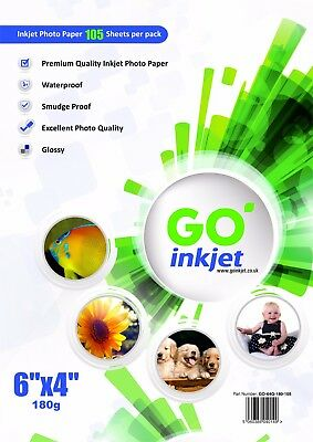 200 Sheets 6x4 180gsm Glossy Photo Paper For Inkjet Printers By Go Inkjet • 7.85£
