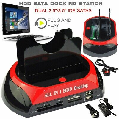"""All In One HDD Docking Station HDD 2.5/3.5"""" SATA/IDE Hard Drive Docking Station • 25.89£"""
