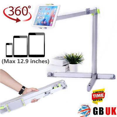 UK 360° Adjustable Fold Lazy Bed Mount Holder Floor Stand For IPad Tablet Phone • 28.95£