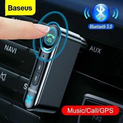 Baseus Bluetooth 5.0 Car Receiver Wireless 3.5mm AUX Adapter For Car Music W/Mic • 9.59£