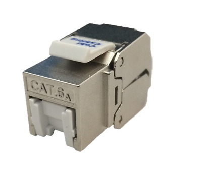 CAT6a Keystone Jacks With Dust Protector • 2.99£